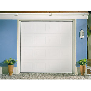 Garador Georgian Grain White Garage Door 2136mm x 2439mm