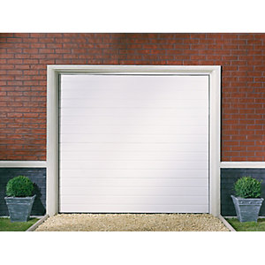 Garador Linear Grain White Garage Door 1981mm x 2134mm