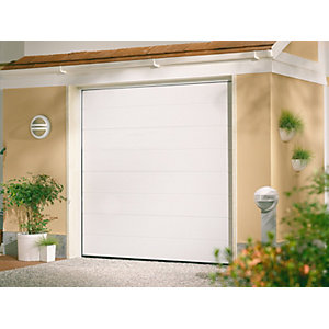 Garador Linear Grain White Garage Door 1981mm x 2439mm