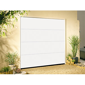Garador Linear Grain White Garage Door 2136mm x 2439mm