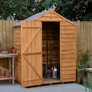 Overlap Dip Treated 5x3 Apex Shed No Windows