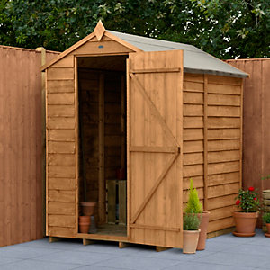 Overlap Dip Treated 6x4 Apex Shed No Windows