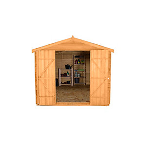Overlap Dip Treated Apex Shed Double Door 12 ft x 8 ft