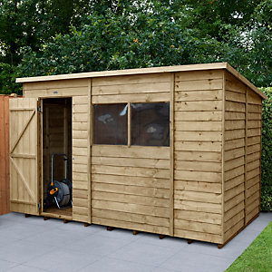 Overlap Pressure Treated 10x6 Pent Shed