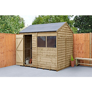 Overlap Pressure Treated 8x6 Reverse Apex Shed