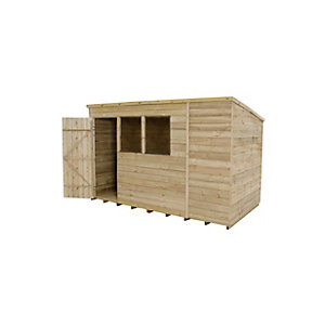 Overlap Pressure Treated Pent Shed 10 ft x 6 ft