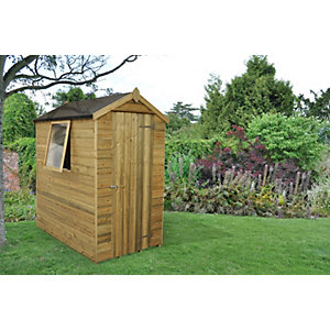Tongue & Groove Pressure Treated Apex Shed 6 ft x 4 ft