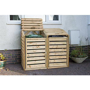 Double Wheelie Bin Hide - Pressure Treated 1220mm x 1460mm x 9200mm