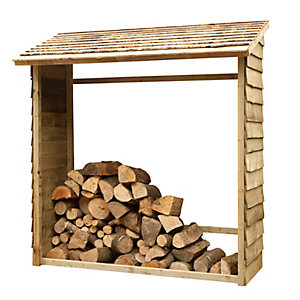 Wall Log Store - Pressure Treated 1950mm x 1830mm x 840mm
