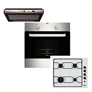 Zanussi Conventional Oven, Hood & Gas Hob Pack
