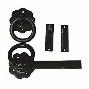 4Trade Ring Gate Latch Antique Black 152mm