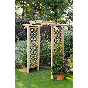 Forest Garden Genoa Timber Garden Arch 1200 x 1870 x 2570