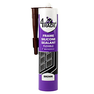 4TRADE Frame Silicone Sealant Brown 310ml