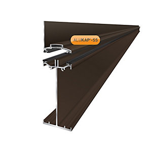 Alukap-SS High Span Wall Bar 4.8m Brown
