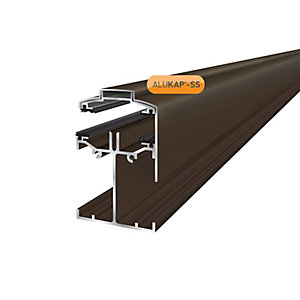 Alukap-SS Low Profile Gable Bar 4.8m Brown