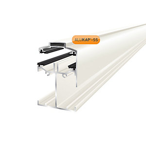Alukap-SS Low Profile Gable Bar 4.8m White