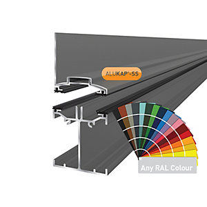Alukap-SS Low Profile Wall Bar 4.8m PC-(Any RAL Colour)