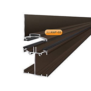 Alukap-SS Low Profile Wall Bar 6.0m Brown