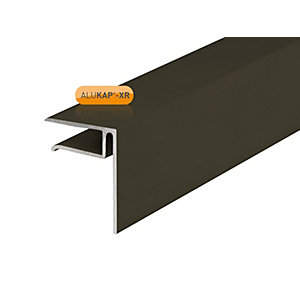 Alukap-XR 10mm End Stop Bar Brown 3000mm