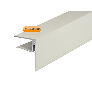 Alukap-XR 16mm End Stop Bar 3600mm White