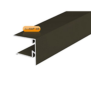 Alukap-XR 25mm End Stop Bar Brown 3000mm
