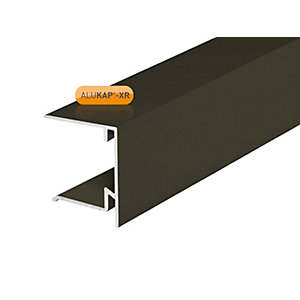 Alukap-XR 35mm End Stop Bar Brown 3000mm
