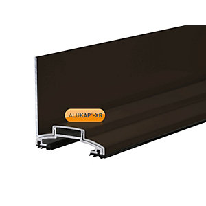 Alukap-XR 60mm Wall Bar 3.6m No Rafter Gasket Brown