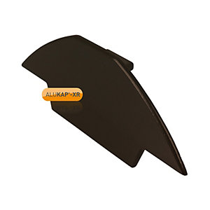 Alukap-XR Ridge Gable End Plate Brown
