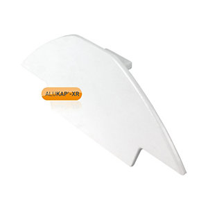 Alukap-XR Ridge Gable End Plate White