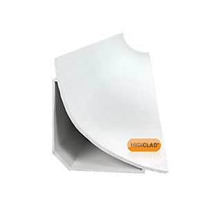 Hygiclad 75mm Coving Trim White 3050mm