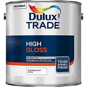 Dulux Trade High Gloss Paint Pure Brilliant White 2.5L