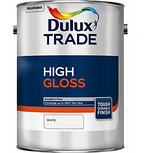 Dulux Trade High Gloss Paint White 5L