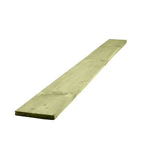 Travis Perkins Pressure Treated Timber Gravel Board Green 22mm x 150mm x 3m