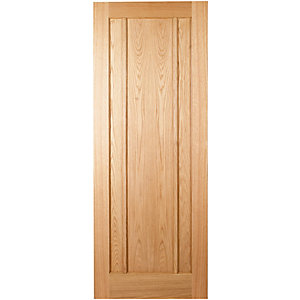 Hardwood Oak Ripon 3 Panel Internal Door