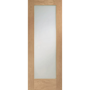 Hardwood Oak Shaker Pattern 10 Clear Glazed Internal Door