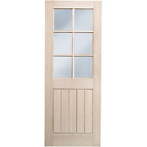 Hardwood Oak Suffolk 6 Light Glazed Internal Door