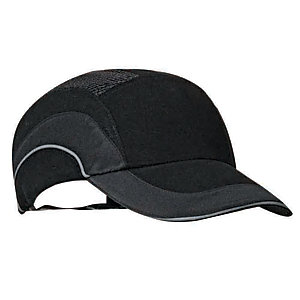 Jsp Black Hard Hat Bump Cap A1+