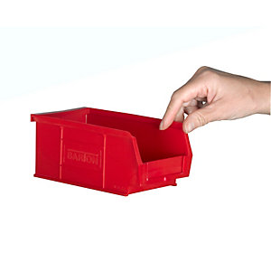 Topstore TC2 Red Containers - 165D x 100W x 75mm H - Pack of 20