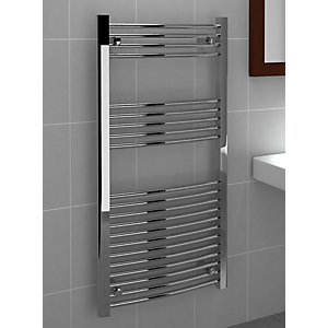 Standard 22mm Towel Rail Curved Chrome 1200mm x 600mm