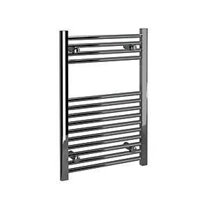 Straight Towel Rail Chrome Finish 1200 x 600mm
