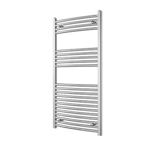iflo 25 mm Curved Towel Rail CHROME 750mm x 600mm