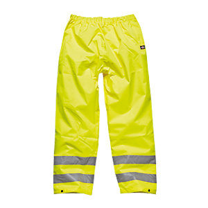 4Trade Safety Trousers High Visibility Yellow Size L