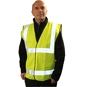 Armour Up High Visibility Yellow Waistcoat EN20471 Size Medium