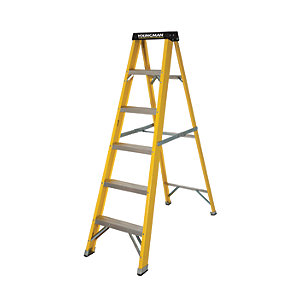 Youngman S400 GRP Trade Stepladder 6 Tread