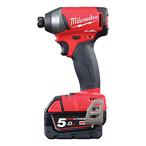 Milwaukee 18V Fuel Brushless Impact Driver with 2 x 5AH Batteries M18FID-502