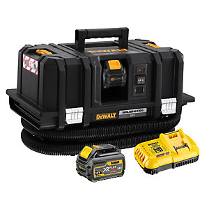 DeWalt 54V Xr Flexvolt M-class Dust Extractor with 2 x 6.0AH Batteries