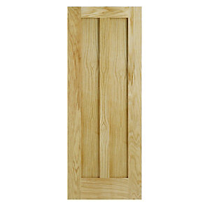 Interior Oak Hobson 2 Panel Satin Hinge, Handle & Latch Door Bundle