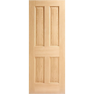 Interior Oak Victorian Satin Hinge & Latch Door Bundle