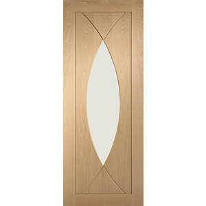 Internal Oak Pre-finished Pesaro Door with Clear Glass 1981 x 762 x 35mm