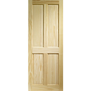 Internal Clear Pine 4 Panel FD30 Fire Doors 1981mm x 762mm x 44mm